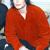 Michael Jackson in his dressing room at the 50th anniversary of American Bandstand